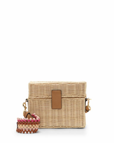 Vince Camuto Handbag HALE CROSSBODY NATURAL/WICKER TUMBLE
