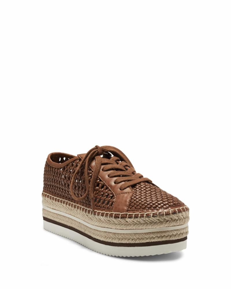 Vince Camuto KEMMIY BARN BROWN/TWISTED WEAVE/WOVEN