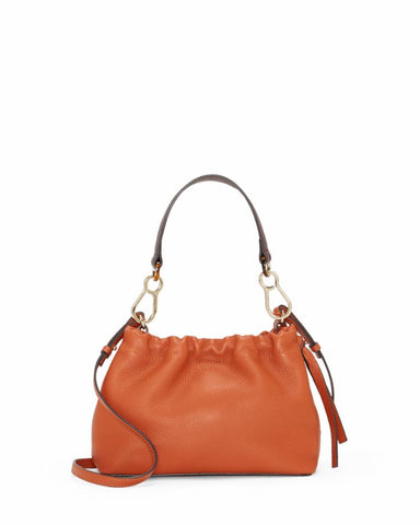 Vince Camuto Handbag MAXI CROSSBODY BURNT ORANGE/MADISON NAPPA