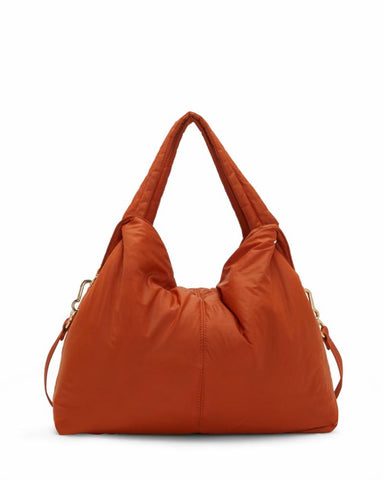 Vince Camuto Handbag NIKI MEDTOTE2 LT BURNT ORANGE/NYLON/WEBBING