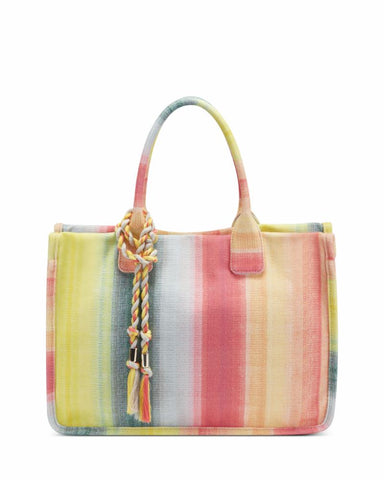 Vince Camuto Handbag ORLA TOTE SUNSET STRIPE /HEAVY CANVAS