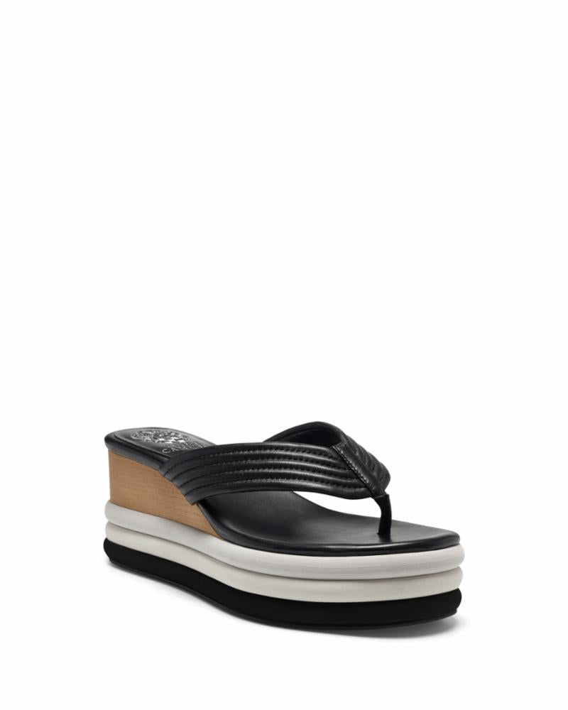 Vince Camuto PERSEENA BLACK/BABY SHEEP
