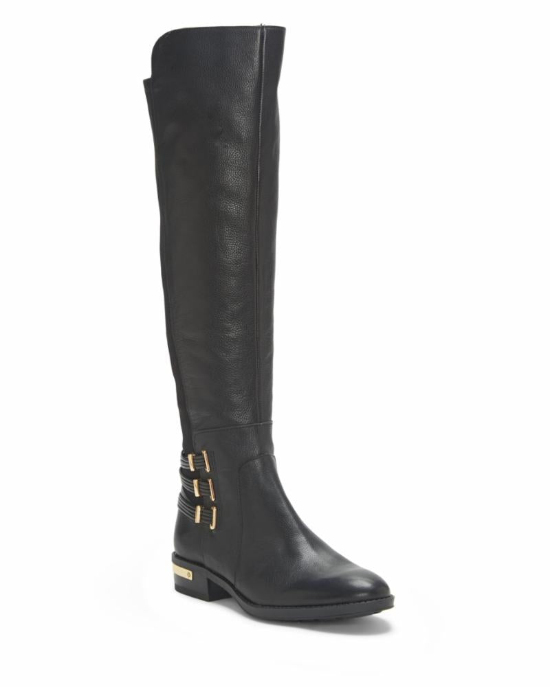 Vince Camuto PRINTAL BLACK/BUTTER CALF/STRTCH NEO