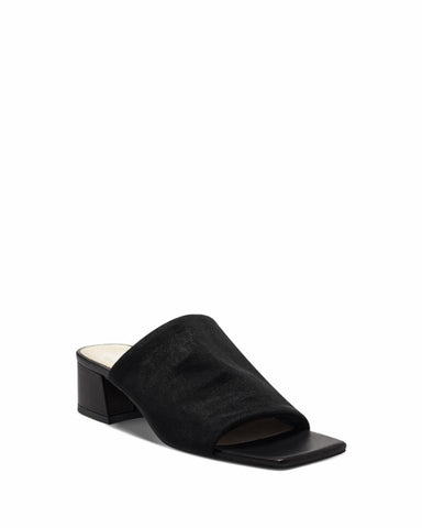 Vince Camuto SALINDERA BLACK/STRETCH MESH/BABY SHEEP