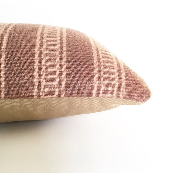 Vintage Turkish Kilim Rug Pillow no. 27 - Lumbar (10 x 20)