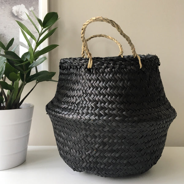Kit + Loom Seagrass baskets. Handmade. Neutral. Room Decor.