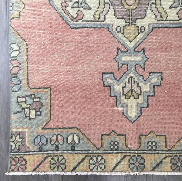 8.4 x 3.3 - Vintage Turkish Rug  |  Blush Rug  |  Vintage Turkish Oushak  |  Runner