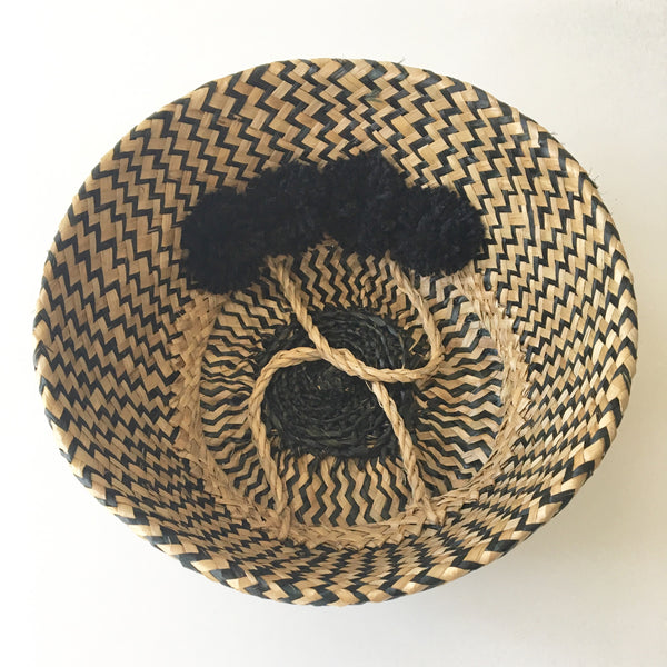 Seagrass baskets from Kit + Loom. Foldable and flexible.