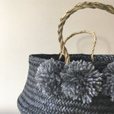 Detail of Seagrass Baskets - noir from Kit + Loom. Handmade.