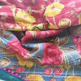 Kit + Loom Indian Kantha Quilt. Twin Size. Ships Worldwide.