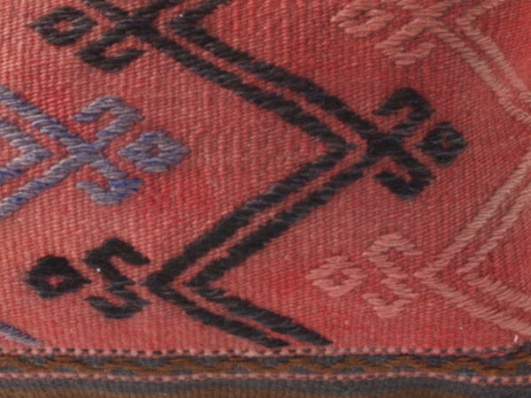 Close up of kilim pillow.