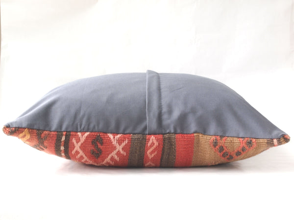 Back view. Kilim pillow. Vintage and Boho.