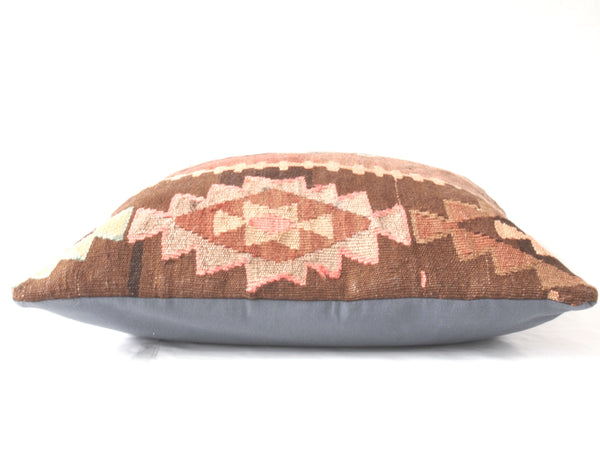 Kilim pillow. Perfect size. Side view of pillow cover.
