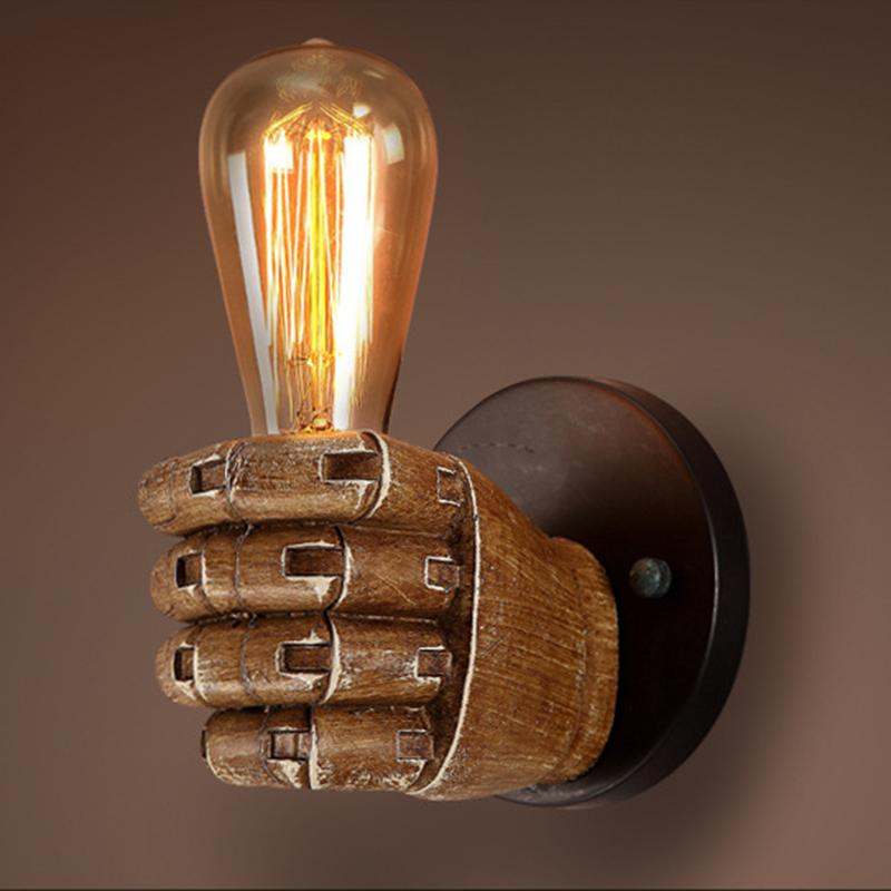Classical resin fist wall lamps aloadofball Images