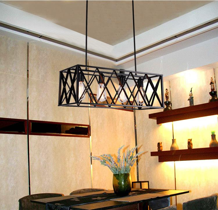 & Kitchen Island Antique Wrought Iron Pendant Lights