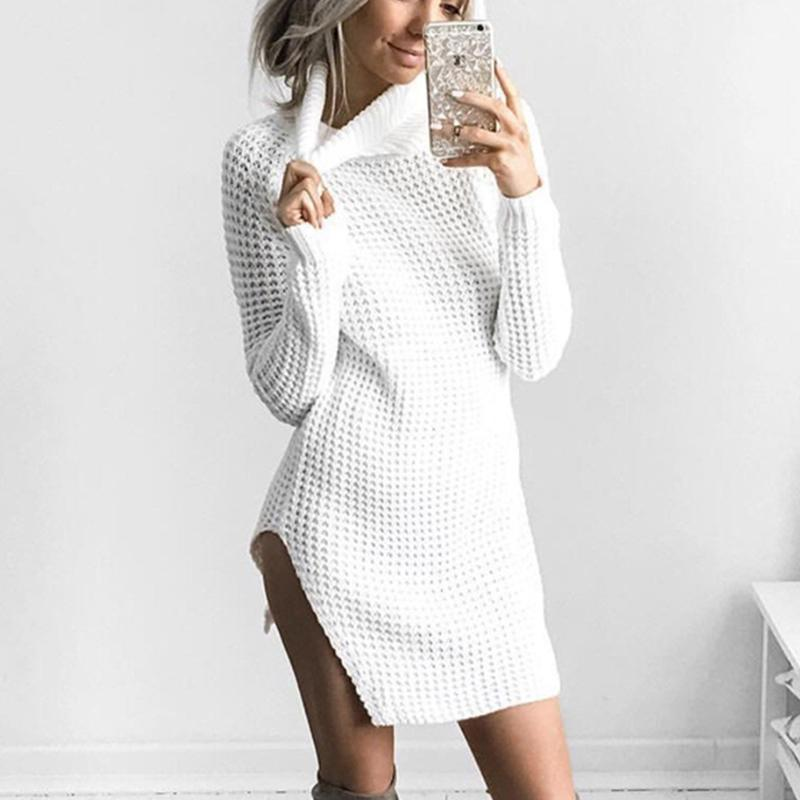 6001b8e7d101 Women s Fashionable Knitted Long Sleeve Roll Neck Sweater