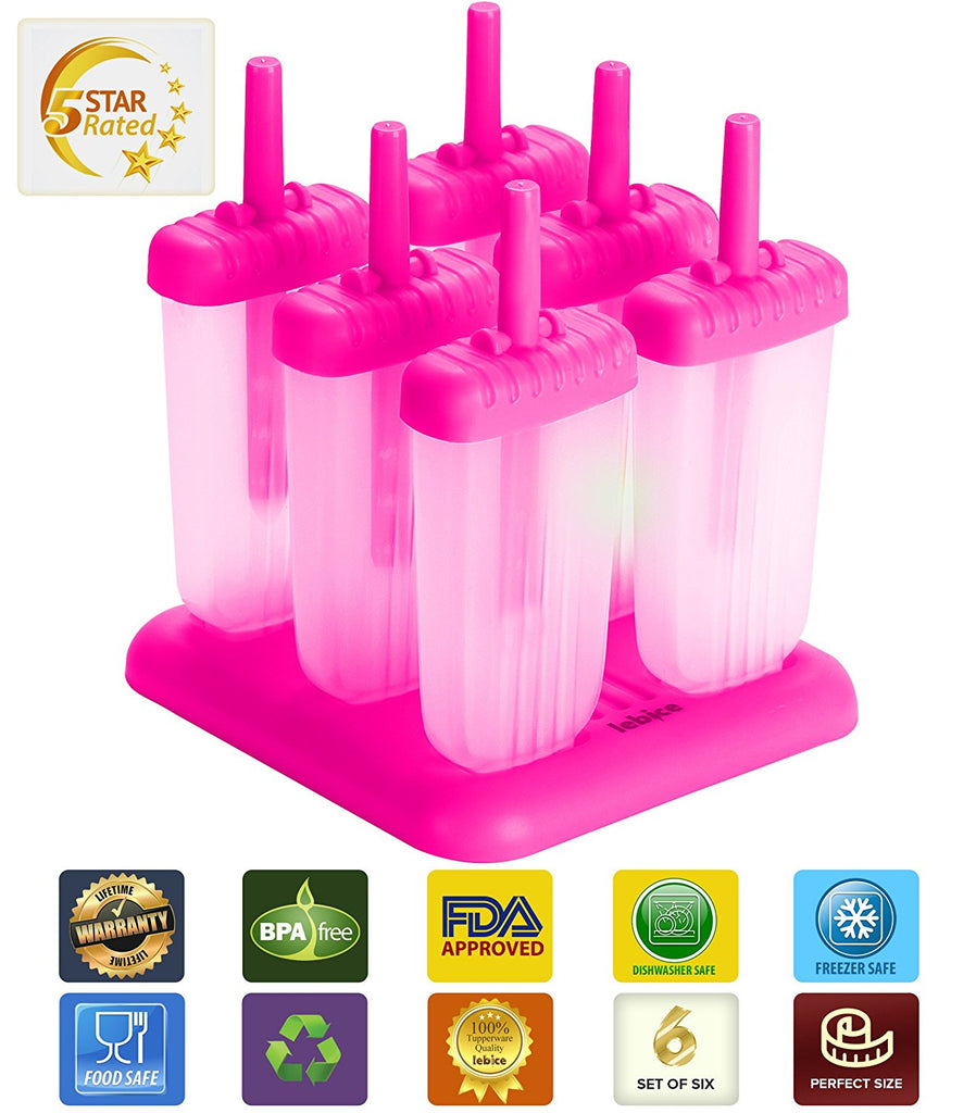LEBICE Popsicle Molds Set (Pink Blue)