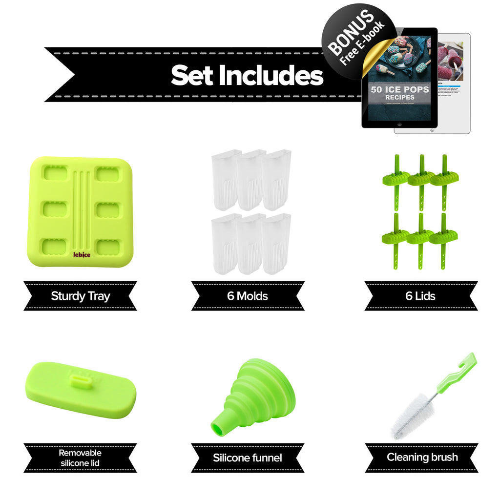 LEBICE Popsicle Molds Set (Green)