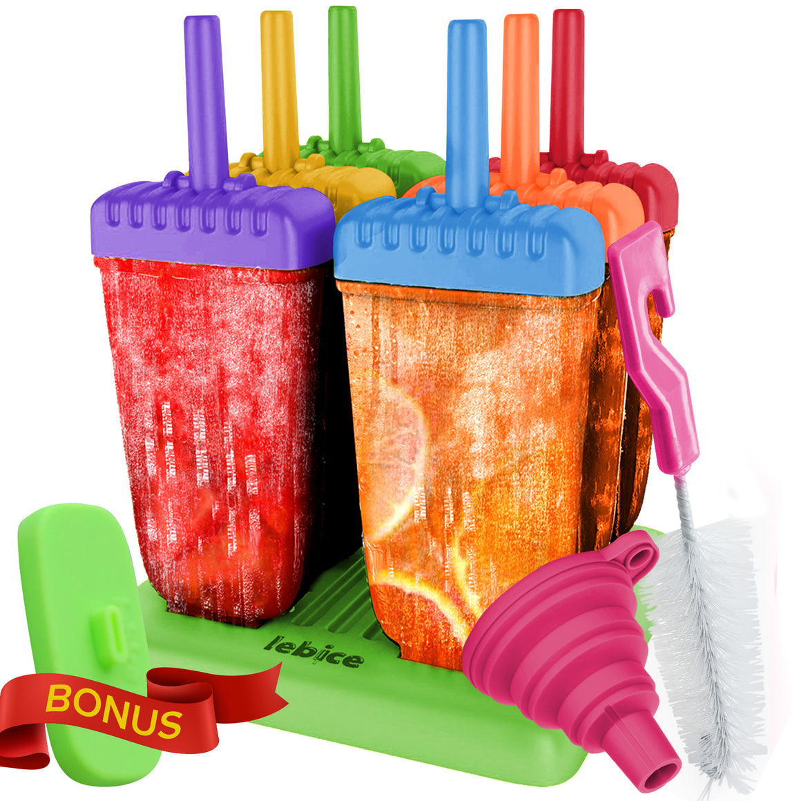LEBICE Popsicle Molds Set (Mix colors)