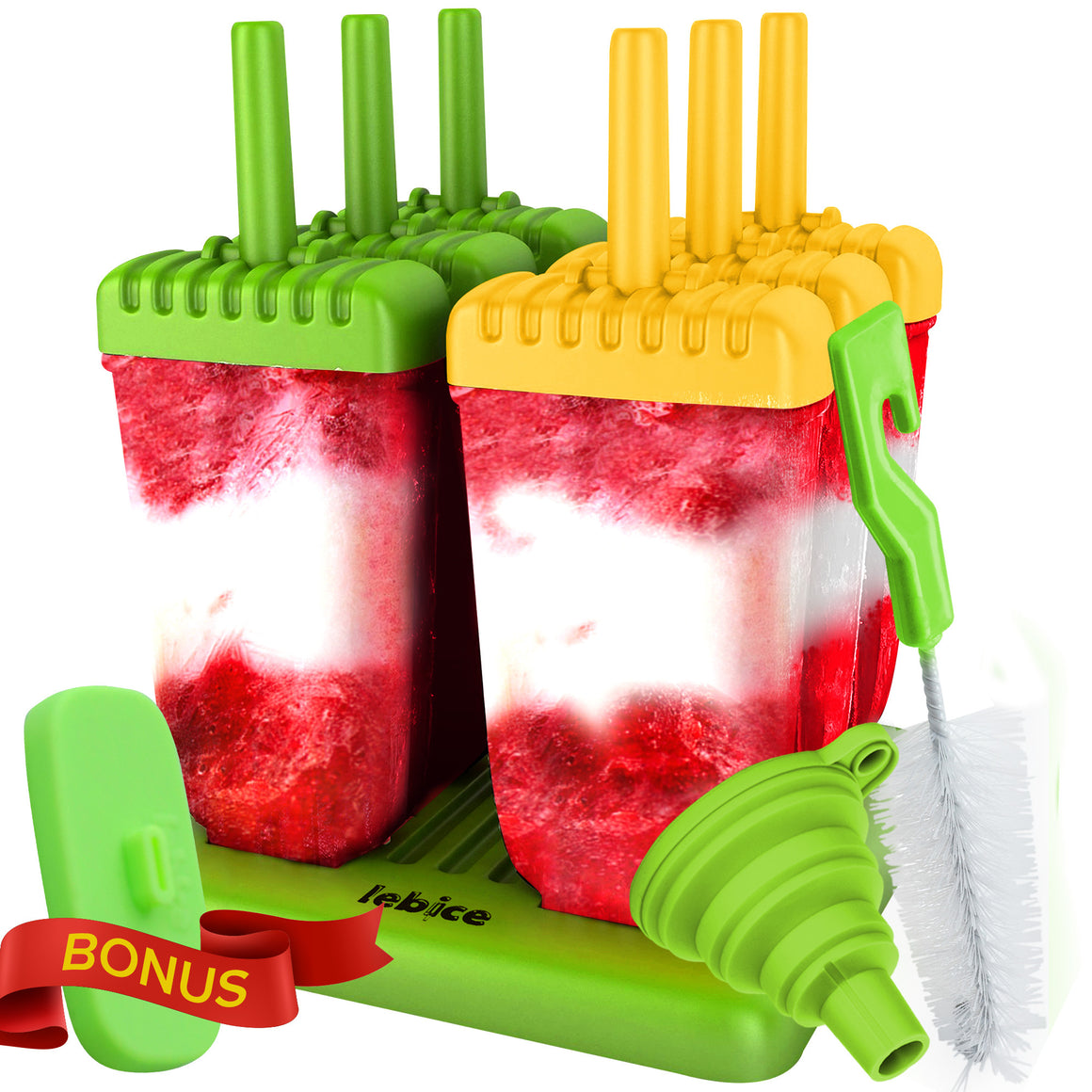 LEBICE Popsicle molds set (Green Yellow)