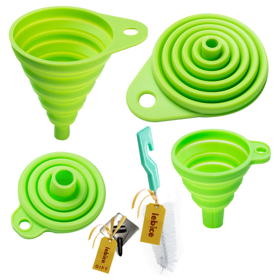 Silicone funnels & Brush