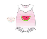 Knit Watermelon Applique Bubble