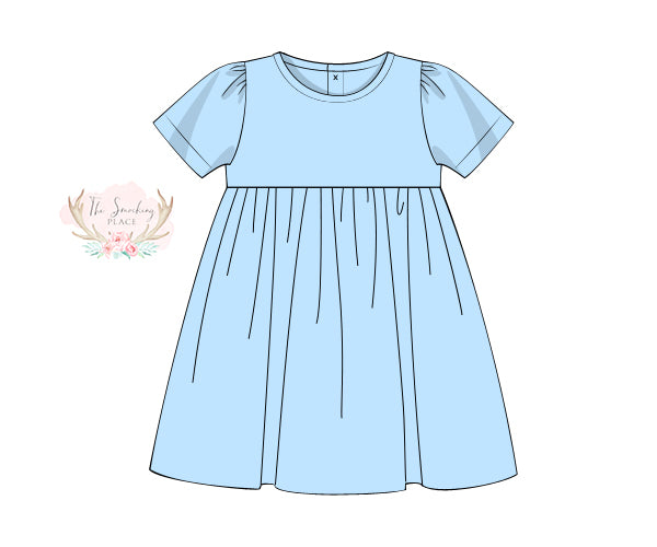 Knit Light Blue Dress