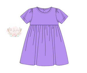 Load image into Gallery viewer, Knit Lavender Dress