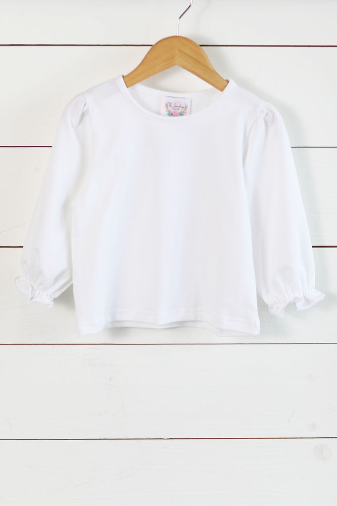 Knit White Girl Long Sleeve Top