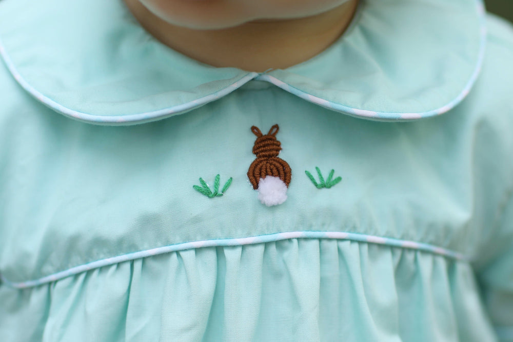 Load image into Gallery viewer, French Knot Bunny Mint Collared Girl Bubble