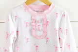 Knit Flamingo Pink Bitty Dot Lounge Wear
