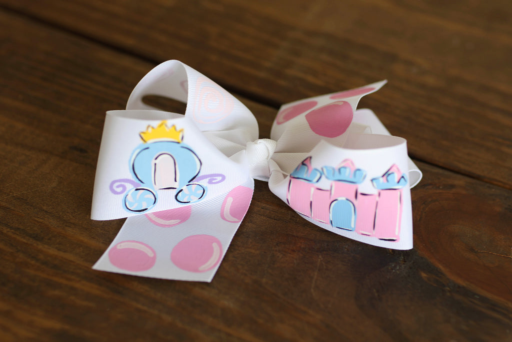 Princess Hand Painted Bow