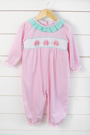 Ballet Smocked Pink Long Bubble