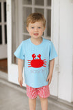 Knit Crab Applique Short Set
