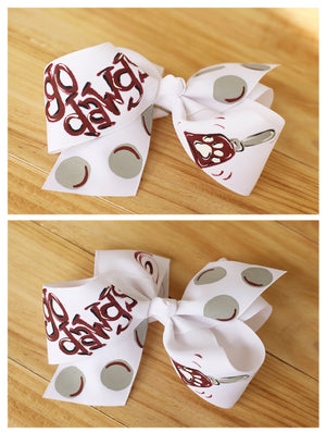 Cowbell Maroon Hand Painted Bow