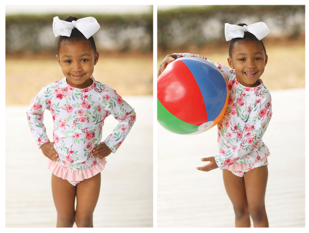 Floral Rashguard 2 Piece Swim Set