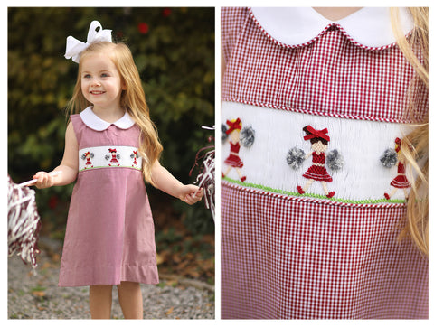 Mouse Smocked Pink Bitty Dot Bloomer Set