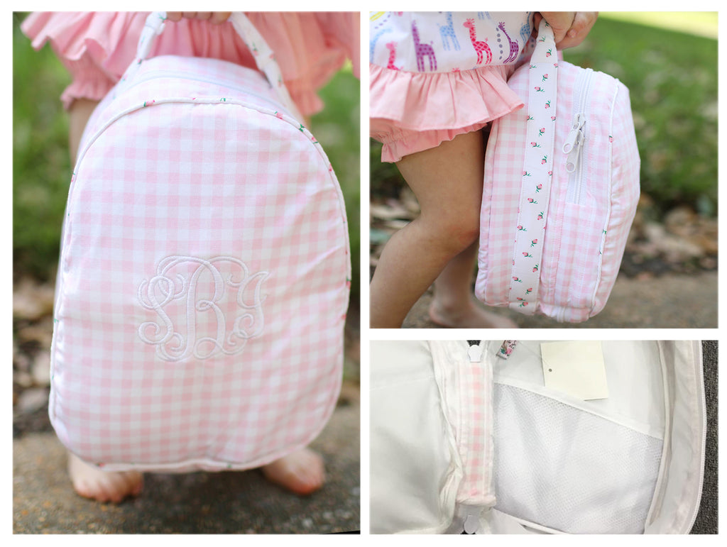 Knit Pink Gingham Lunchbox