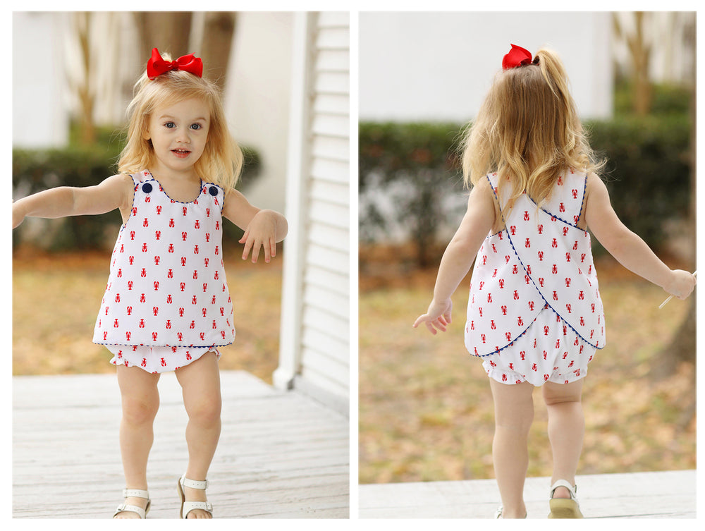 Lobster Print Swing Top Bloomer Set