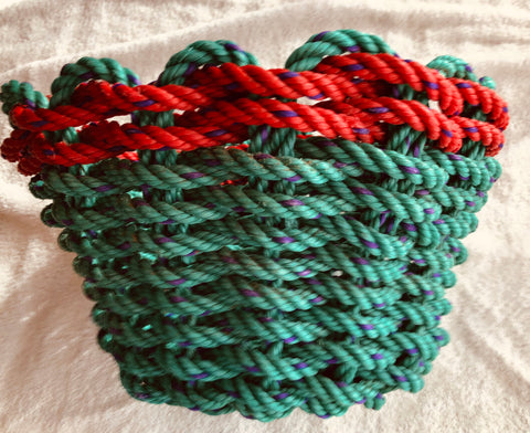 Green with Red Trim Basket