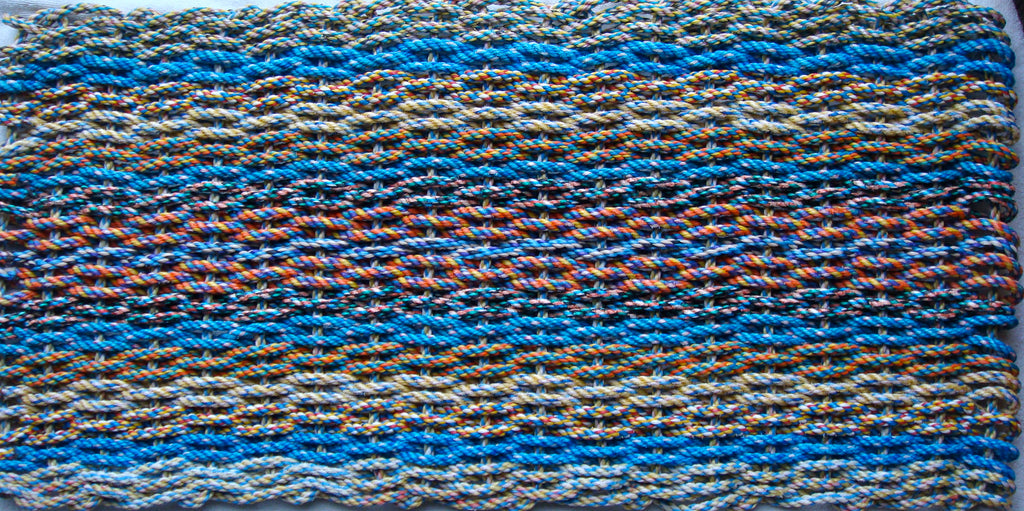 Blue Tweed Rag Rug