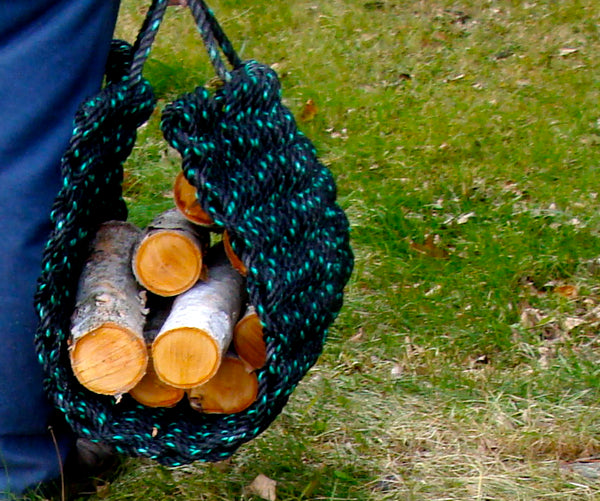 Recycled Rope Log Carrier Sling