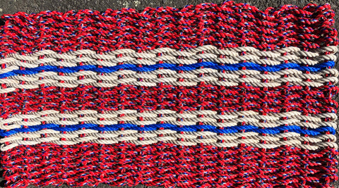 Red/Multi with White and Blue Stripes