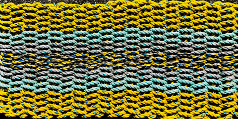 One-of-a -Kind Yellow - Multi Rope Rag Rug