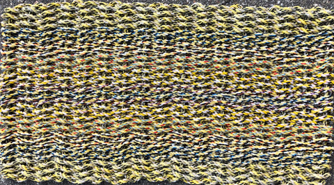 Yellow Tweed Rag Rug