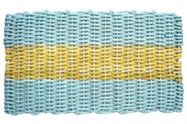 Aqua with Yellow Stripe