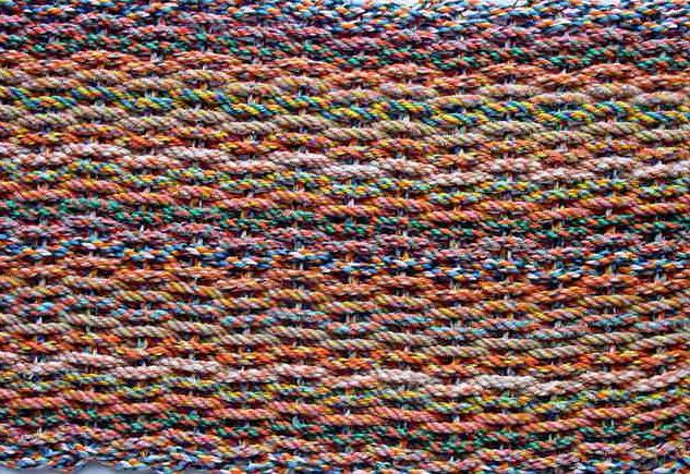 Orange Tweed Rag Rug