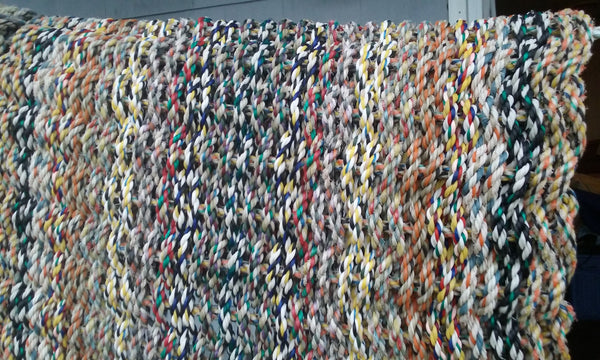 White Tweed Rag Rug