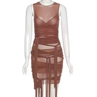 Brown Sugar Mesh Dress