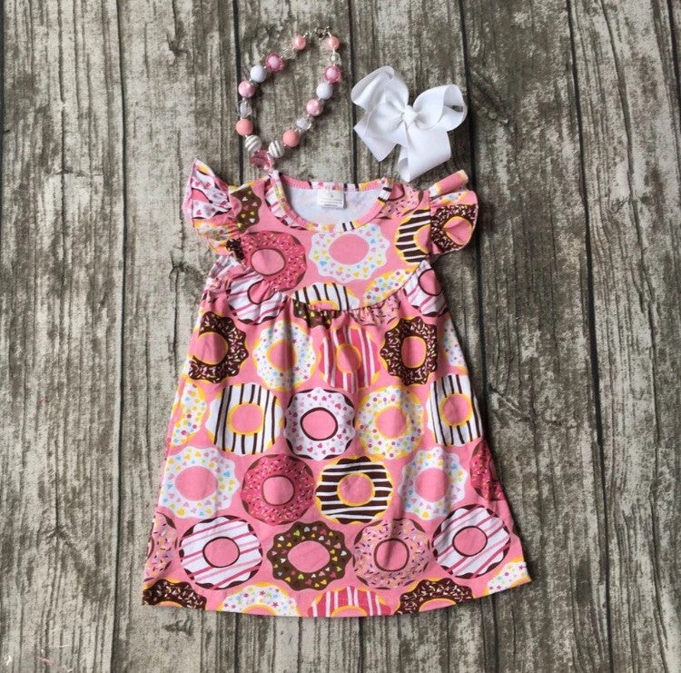 Donut Dress, Necklace & Bow